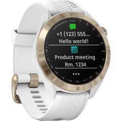 Garmin Approach S40 Golf Watch (Light Gold Tone / White Band)