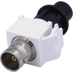 Cap America Keystone BNC Connector with CaP (White, 10-Pack)