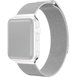 CASEPH Stainless Steel Mesh Band for 42mm/44mm Apple Watch (Silver)