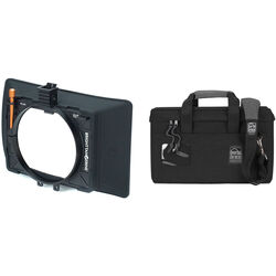 "Bright Tangerine Misfit Atom 4x5.65""/4x4"" Ultra Lightweight 2-Stage Clip-On Matte Box Kit with Matte Box Soft Case"