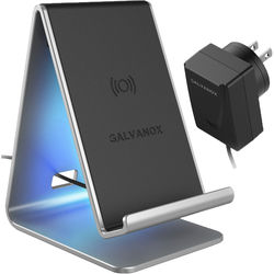 Galvanox Aluminum Wireless Qi Charging Dock with USB Type-C Power Adapter