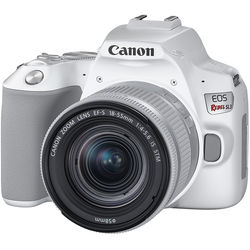 Canon EOS Rebel SL3 DSLR Camera with 18-55mm Lens (White)