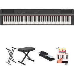Yamaha P-125 88-Note Digital Piano and Essentials Kit (Black)