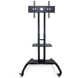 Luxor FP2500 Adjustable Height LCD TV Stand andMount with Accessory Shelf