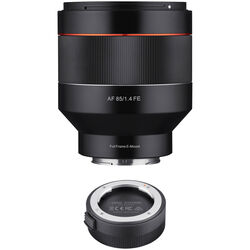 Rokinon AF 85mm f/1.4 Lens with Lens Station Kit for Sony E