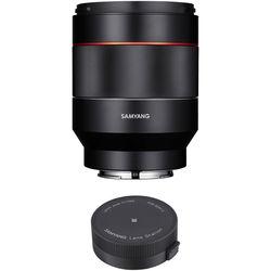 Samyang AF 50mm f/1.4 FE Lens with Lens Station Kit for Sony E