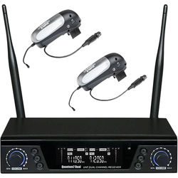 AMT Q7 Dual-Channel Q7 Receiver and Dual-Transmitter Wireless System (No Microphone, 900 MHz)
