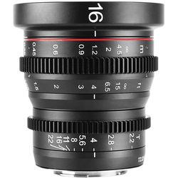 Meike 16mm T2.2 Manual Focus Wide Angle Cinema Lens (MFT Mount)