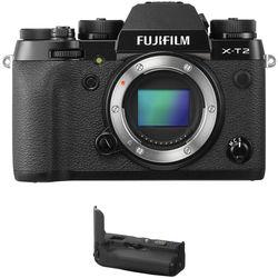 FUJIFILM X-T2 Mirrorless Digital Camera Body with Battery Grip Kit (Black)
