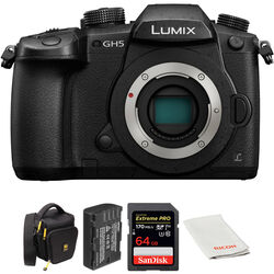 Panasonic Lumix DC-GH5 Mirrorless Micro Four Thirds Digital Camera with Accessories Kit