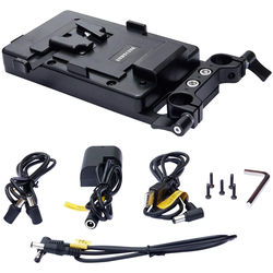 ANDYCINE Multi-Output V-Mount Battery Plate with Rod Mount, Cheese Plate, and Mixed Cables