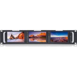 "FeelWorld T51 Triple 5"" 2 RU 3G-SDI/HDMI Rackmount Monitor"