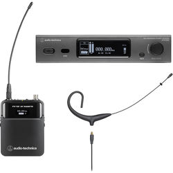 Audio-Technica ATW-3211/892x 3000 Series Wireless Omni Earset Microphone System (Black, DE2: 470 to 530 MHz)