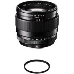 FUJIFILM XF 23mm f/1.4 R Lens with UV Filter Kit