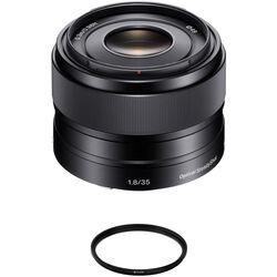 Sony E 35mm f/1.8 OSS Lens with UV Filter Kit