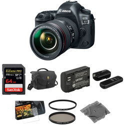 Canon EOS 5D Mark IV DSLR Camera with 24-105mm f/4L II Lens Basic Kit