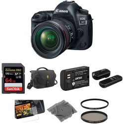 Canon EOS 5D Mark IV DSLR Camera with 24-70mm f/4L Lens Basic Kit