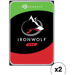 "Seagate 10TB IronWolf 7200 rpm SATA III 3.5"" Internal NAS HDD Kit (2-Pack)"