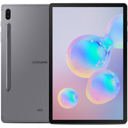"""Samsung 10.5"""" Galaxy Tab S6 128GB Tablet (Wi-Fi Only, Mountain Gray)"""