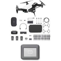 DJI Mavic Air Fly More Drone with 2TB Copilot BOSS Hard Drive Kit (Arctic White)