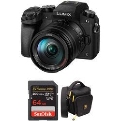 Panasonic Lumix DMC-G7 Mirrorless Micro Four Thirds Digital Camera with 14-140mm Lens and Accessory Kit (Black)