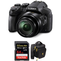 Panasonic Lumix DMC-FZ300 Digital Camera with Accessories Kit