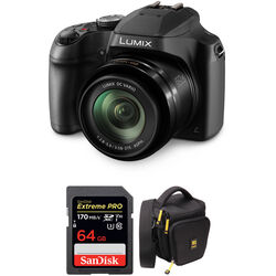 Panasonic Lumix DC-FZ80 Digital Camera with Free Accessory Kit