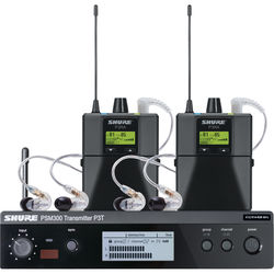 Shure PSM 300 Twin-Pack Pro Wireless In-Ear Monitor Kit (G20: 488 to 512 MHz)