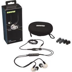 Shure SE215 Sound-Isolating Earphones with 3.5mm Remote/Mic Cable (Clear)