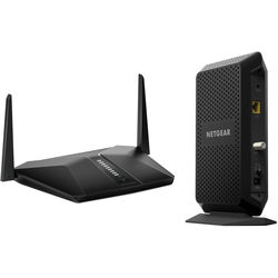 Netgear Nighthawk AX4 4-Stream AX3000 Wi-Fi Router & CM1000 DOCSIS 3.1 Cable Modem Kit