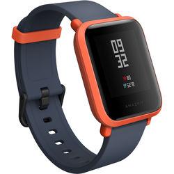 Amazfit Bip Smartwatch (Cinnabar Red, Black Silicone Band)