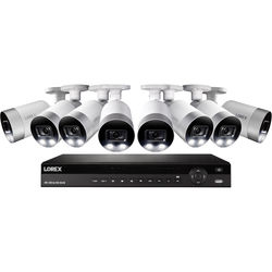 Lorex 16-Channel 4K UHD NVR with 3TB HDD & 8 4K Smart Deterrence Night Vision Bullet Cameras