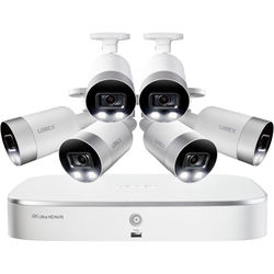Lorex 4K UHD NVR with 3TB HDD & 6 4K Smart Deterrence Bullet Cameras