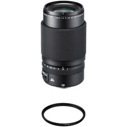 FUJIFILM GF 120mm f/4 Macro R LM OIS WR Lens with UV Filter Kit