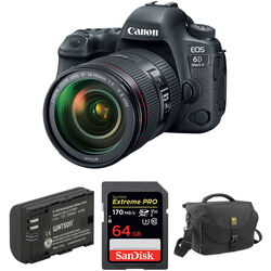 Canon EOS 6D Mark II DSLR Camera with 24-105mm f/4L II Lens and Accessory Kit