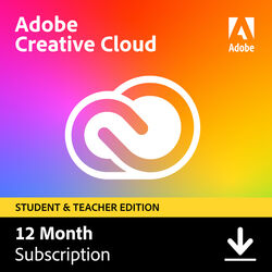 Adobe Creative Cloud (12 Month Subscription, Download, Student and Teacher Edition)
