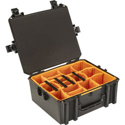 Pelican Vault V600 Large Equipment Case with Lid Organizer and Dividers (Black)