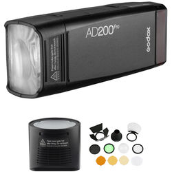Godox AD200Pro TTL Pocket Flash Kit with Round Head and Modifiers