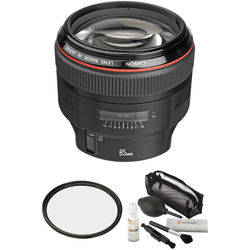 Canon EF 85mm f/1.2L II USM Lens with Accessories Kit