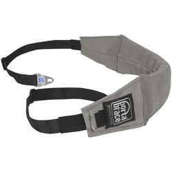 Porta Brace Heavy-Duty Suede Shoulder Strap with Camera Clips (Gray)