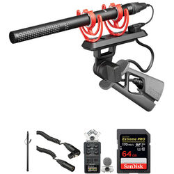 Rode NTG5 Shotgun Microphone Kit with Zoom H6 Recorder & Boompole