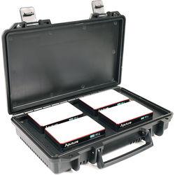 Aputure MC 4-Light Travel Kit with Charging Case