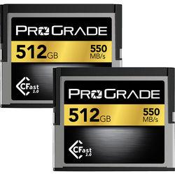 ProGrade Digital 512GB CFast 2.0 V.2 Memory Card (2-Pack)