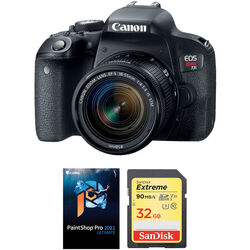 Canon EOS Rebel T7i DSLR Camera with 18-55mm Lens and Accessory Kit