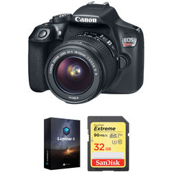 Canon EOS Rebel T6 DSLR Camera with 18-55mm Lens and Software Kit
