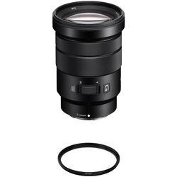 Sony E PZ 18-105mm f/4 G OSS Lens with UV Filter Kit