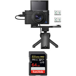 Sony Cyber-shot DSC-RX100 VII Digital Camera with Shooting Grip and Accessories Kit