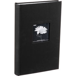 4X6 3-UP 96 PHOTO FLEXIBLE COVER ALBUM FRAME COVER BLACK Photo Album