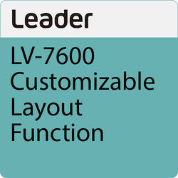 Leader LV7600-SER26 User-Customizable Layout Function License for LV7600