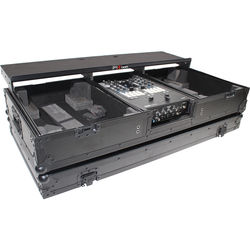 ProX DJ Coffin Flight Case for RANE DJ Seventy-Two Mixer and Two Turntables (Black on Black)